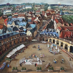 Dijon, Marriage ceremony 72.2x72.2cm, Oil on Canvas, 2015.jpg