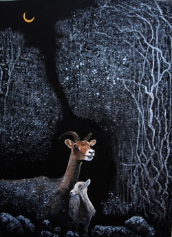 In the dream 1, 72.7 × 53.0cm,_Acrylic on Canvas, 2016, USD, 3000.JPG