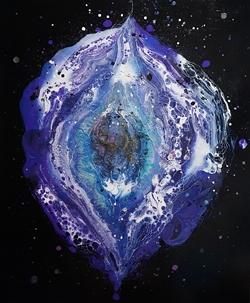 [ Black hole ] Acrylic and mixed media on canvas 72.7cmx60.6cm(20F) 2016  KRW 1,000,000.JPG