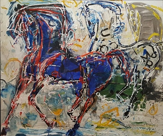 Cavalli(Horses)_100x120cm_Mixed Media on Canvas_2016.jpg