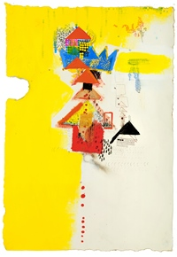 Golden Crown_69.5×99cm_Acrylic, oil bar on paper_2012_3,000.jpg