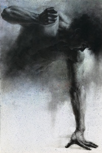Human-he 90.9x60.6cm, Charcoal, Pastel, Watercolor on Paper, 2011.jpg
