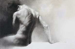 Human-he 65.1x100cm, Charcoal, Pastel on Paper, 2014.jpg