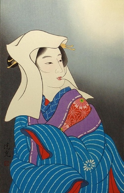 Torii KiyomiTsu_雪 月 花 (Moon) 45x30.5cm, Woodblock Original Print.jpg