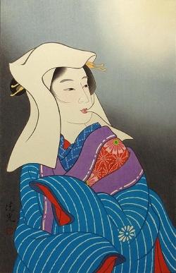 Torii KiyomiTsu_雪 月 花 (Moon) 45x30.5cm, Woodblock Original Print.jpg