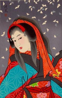 Torii KiyomiTsu_雪 月 花 (Snow) 45x31cm, Woodblock Original Print.jpg