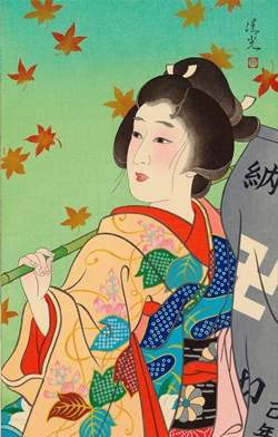 Torii KiyomiTsu_秋 (Autumn) 45x30.5cm, Woodblock Original Print.jpg