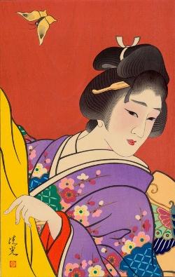 Torii KiyomiTsu_春 (Spring) 45x30cm, Woodblock Original Print.jpg