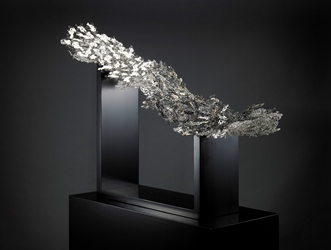 PINE TREE, 120×30×122cm, Natural lacquer with silver 925 and mother-of-pearl, 2015.jpg