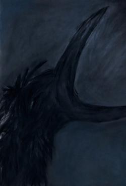 까마귀(烏), 110x75cm, Pastel on Paper, 2014.jpg