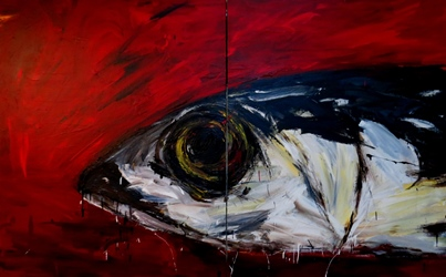 The mackerel, 162x260cm, Acrylic on Canvas, 2017.jpg