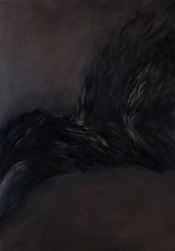 The crow, 110x75cm, Pastel on Paper, 2016.jpg