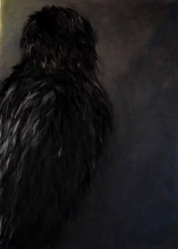 The crow, 110x75cm, Pastel on Paper, 2015.jpg