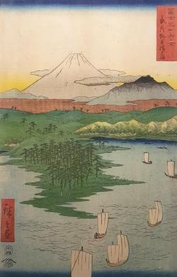 04Fuji 36 landscape - Musashino  Yokohama, 33.5x22cm, Woodblock Original Print.jpg