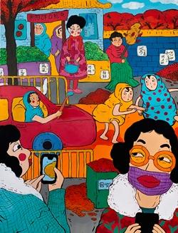 The Adventure of Dama Wang No.1, 122x91cm, Acrylic on Canvas, 2018.JPG