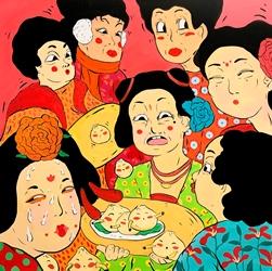 The Adventure of Dama Wang No.4, 91x91cm, Acrylic on Canvas, 2019.JPG